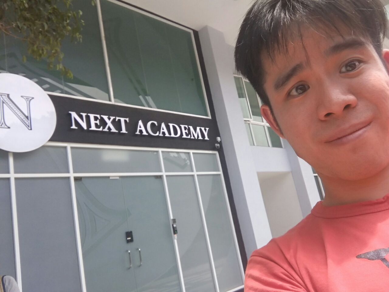 Soon Seng outside the NEXT Academy entrance