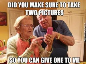 Grandparents and cameras